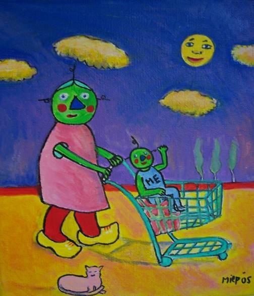 Illustratie ebook over gentechvrij voedsel. Miep Bos
