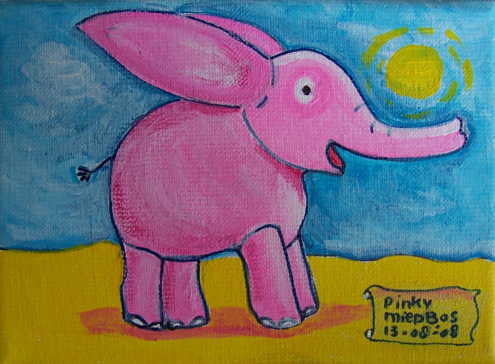 Pinky het roze olifantje Miep Bos 2008
