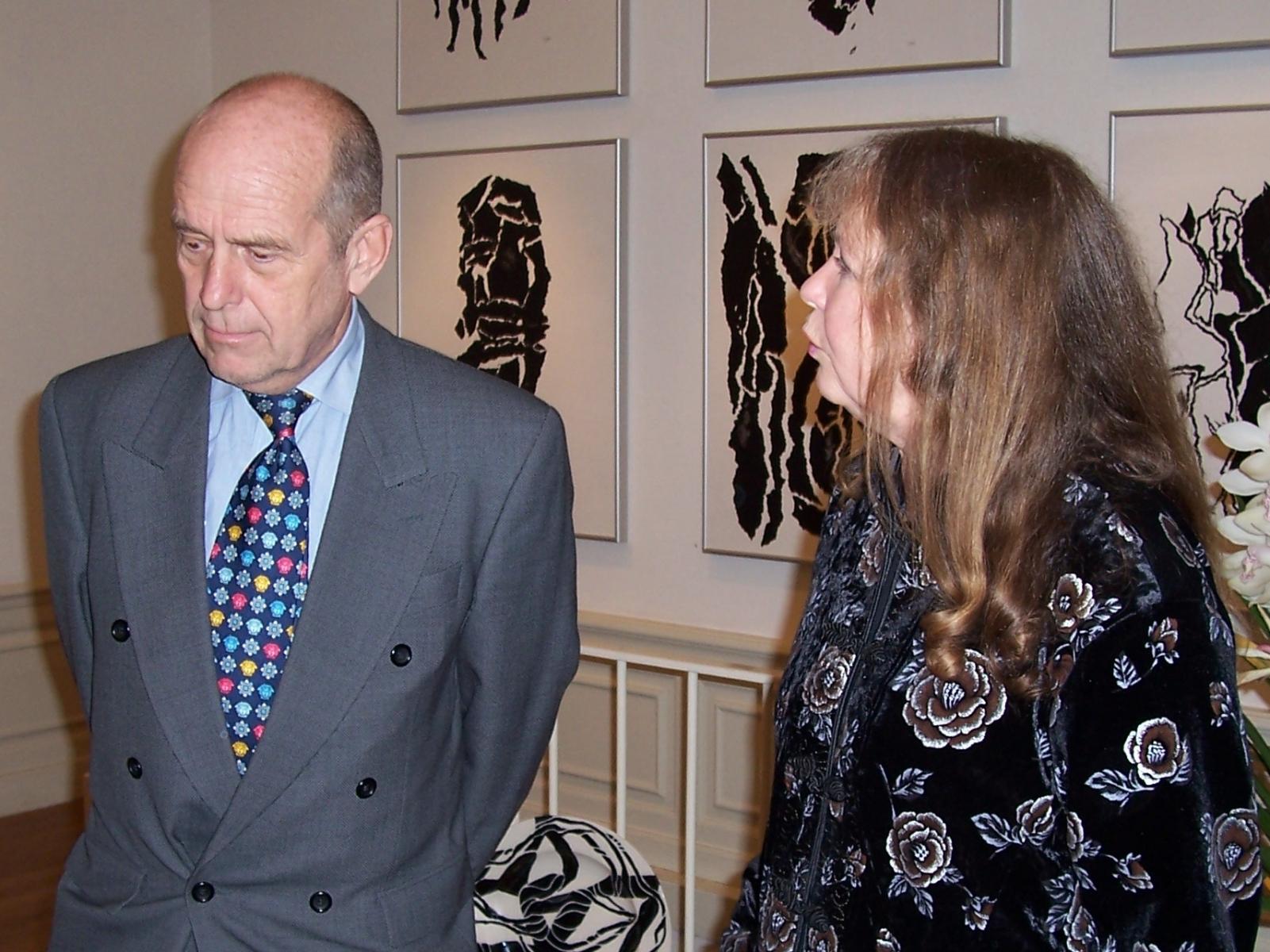 Expositie Wieteke van Dort, hier samen met Robert Verlinden, Pulchri Studio Den Haag, 2004.