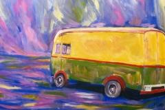 Vrachtauto, de reis. Fragment. Miep Bos