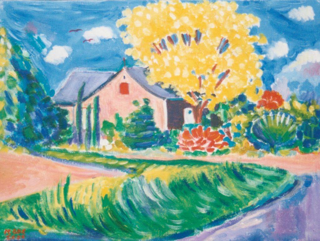 Schilderij in opdracht, Belfeld. Miep Bos