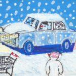 Sneeuwmensen kerstinkopen Miep Bos