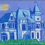Mysterieuze villa acryl Miep Bos 2013