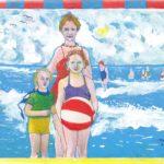 Aan het strand, herinnering aan de mooie zomers van weleer Miep Bos