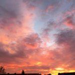 Mooie rode lucht in Lelystad foto Miep Bos 2018